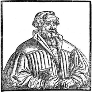 Woodcut on the Memorial leaflet [Basel 1542]